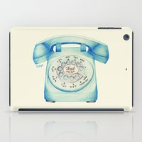novelty iPad Cases featuring Rotary Telephone - Ballpoint by One Curious Chip