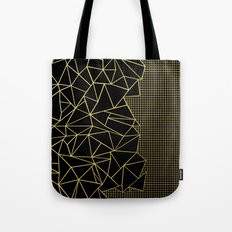 Abstract Outline Grid Gold Tote Bag