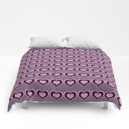 Pastel hearts love pattern embrace friendships, relationships Valentine's day Comforters