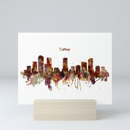 Denver Skyline Silhouette Mini Art Print