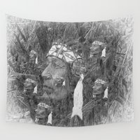 indian Wall Tapestries featuring Indian by  Agostino Lo Coco