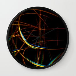 Abstract yellow and blue light effect Wall Clock