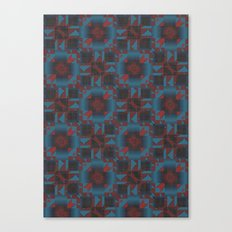 Red and blue Geometric Canvas Print