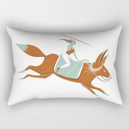 Fox Rider Rectangular Pillow