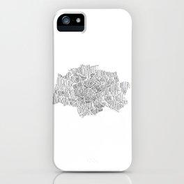 Groningen Lettering Map iPhone Case