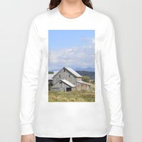 vermont Long Sleeve T-shirts featuring Vermont Barn by Ashley Callan