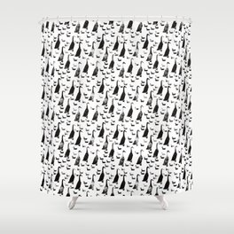 Geese and ducks. Shower Curtain