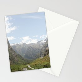 Through the Valley of Mountains Stationery Cards