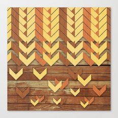 ZigZag Woody Canvas Print
