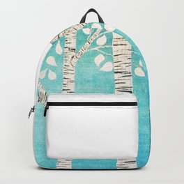 Turquoise birch forest Backpack
