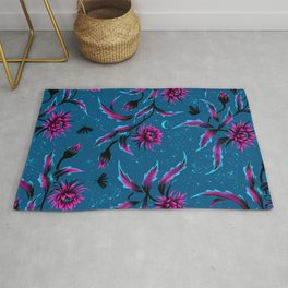 Queen of the Night - Teal / Purple Rug