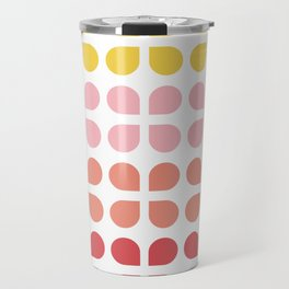 Floral Geometry Pattern Travel Mug