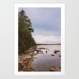 Sunrise at Lake Crawford Art Print