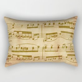 Vintage Sheet Music Rectangular Pillow