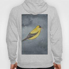 American Goldfinch - Solar Plexus Chakra - Watercolor Painting Hoody