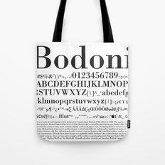Bodoni (Black) Tote Bag