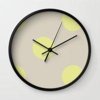 polkadot Wall Clocks featuring polkadot by threequalsquare
