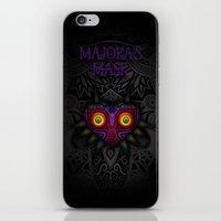 majoras mask iPhone & iPod Skins featuring Majora's Mask by Art & Be