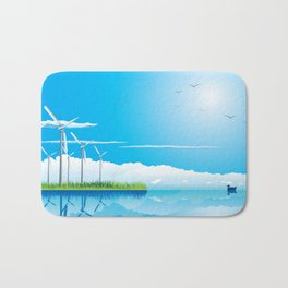 Wind Farm Bath Mat