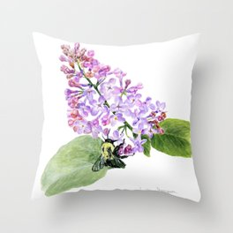 Lilac Love by Teresa Thompson Throw Pillow