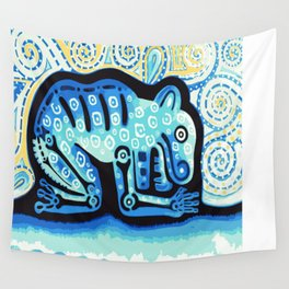 Blue Jaguar posterized Wall Tapestry