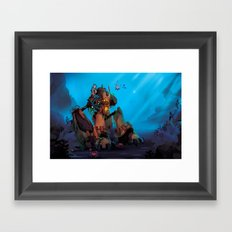 Rust and Water Framed Art Print