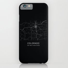 Colorado State Road Map iPhone Case