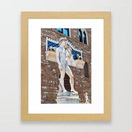 Michelangelo's David in Florence Framed Art Print