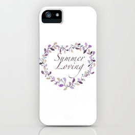 Summer loving iPhone Case