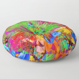 """ Kiwi Lifestyle"" - Pohutukawa NZ Bloom- Pop ART Floor Pillow"