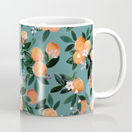 Dear Clementine - oranges teal by Crystal Walen Coffee Mug