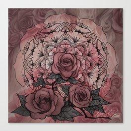Rose Mandala Canvas Print