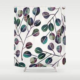 Silver Dollar Eucalyptus – Deep Cool Palette Shower Curtain