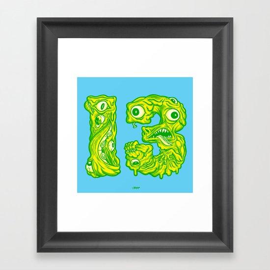Ugly 13 Framed Art Print
