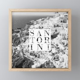 Santorini Framed Mini Art Print