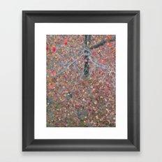 Coloured Tree Framed Art Print