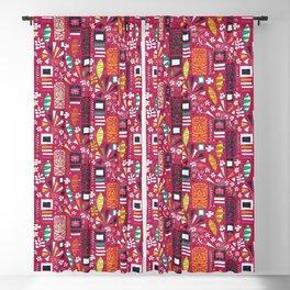 tiki pink Blackout Curtain