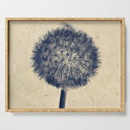 Wishing for a little breeze - Dandelion silhouette Serving Tray
