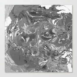 Gray Marble stone texture acrylic paint art Canvas Print