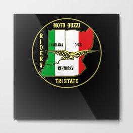 Moto Guzzi Riders Tri State Metal Print