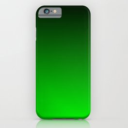 Black and Lime Gradient iPhone Case