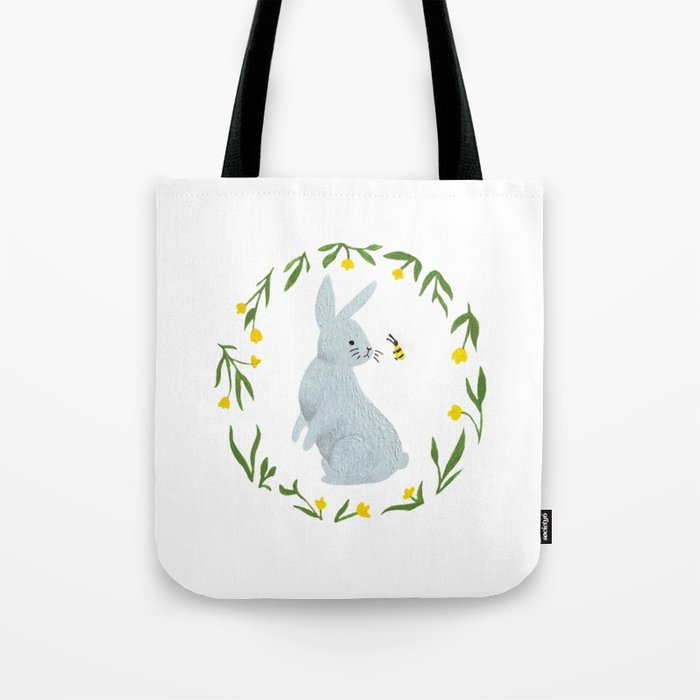 Curious Hare Tote Bag