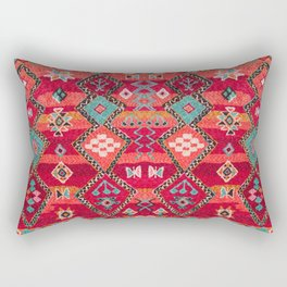 18 - Traditional Colored Epic Anthique Bohemian Moroccan Artwork Rectangular Pillow