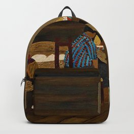 African American Masterpiece 'Giving Thanks' by Horace Pippin Backpack