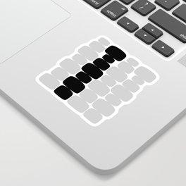 Abstraction_Balance_ROCKS_BLACK_WHITE_Minimalism_001 Sticker