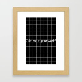 Grid #1 Framed Art Print