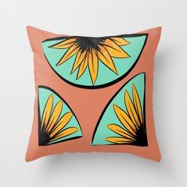 sunflower pieces  Throw Pillow