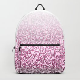 Gradient pink and white swirls doodles Backpack