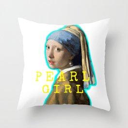 Pearl Girl! Throw Pillow