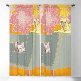 Dogs in chairs French Bull Dogs Blackout Curtain
